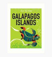 Vintage Reiseplakatkunst der Galapagos-Inseln. Kunstdruck