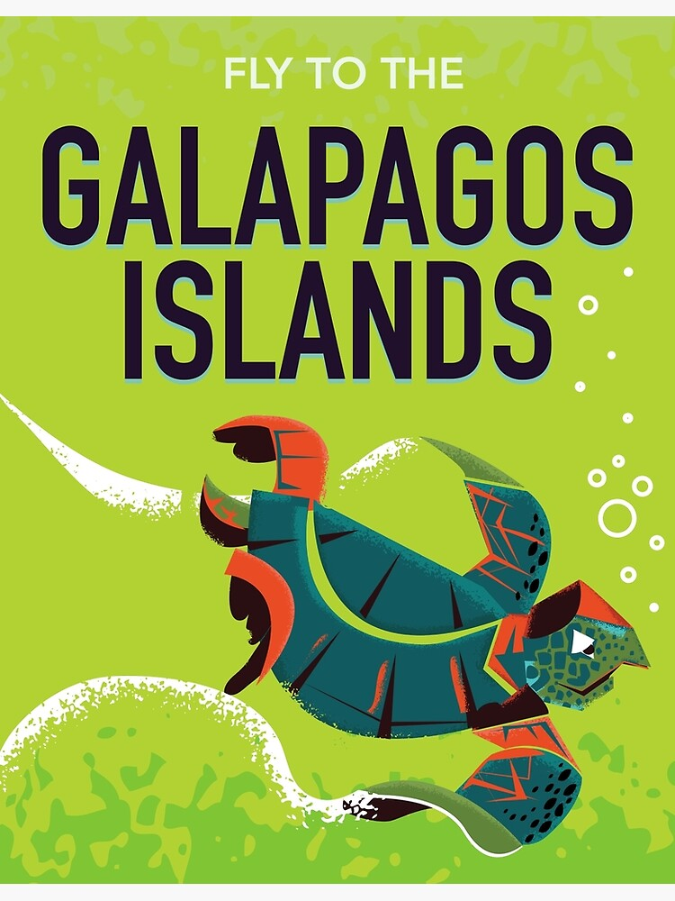 Vintage Reiseplakatkunst der Galapagos-Inseln. von vectorwebstore