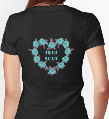 Blue Roses Vintage T-shirt T-Shirt