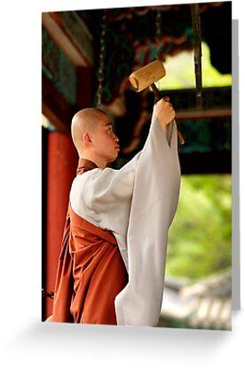 Ringing the Bell - Beopju Temple, South Korea by Alex Zuccarelli