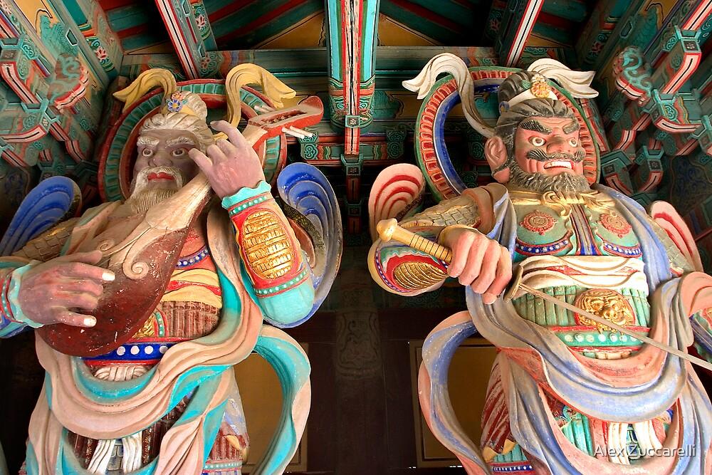 Heavenly Kings - Bulgok Temple, South Korea by Alex Zuccarelli
