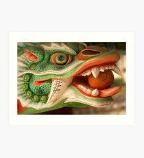 Dragon Head - Haein Temple, South Korea Art Print