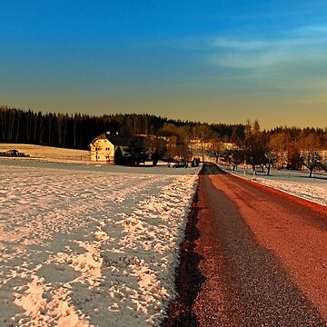 Country road through winter wonderland | landscape photography by patrickjobst