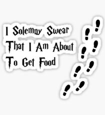 I solemnly swear that I am about to get food Sticker
