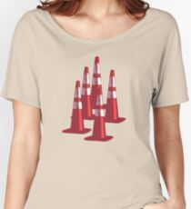 TRAFIC CONES PYLON Women's Relaxed Fit T-Shirt