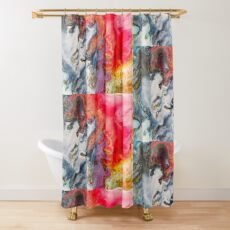 Liquid Colour Shower Curtain