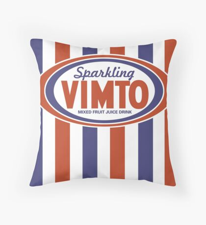 Sparkling Vimto from the 1980s Throw Pillow