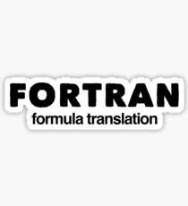 Fortran  Sticker