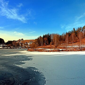 Frozen river panorama | waterscape photography by patrickjobst