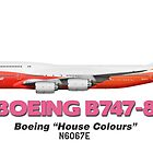 "Boeing B747-8 - Boeing ""House Colours"" by TheArtofFlying"