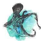 Octopus Lino Print by Harmonycornwell