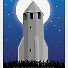 St. Catherine, Isle of Wight-Reise-Plakat von jazzieart