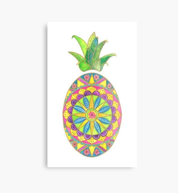 Ananas-Mandala von ShelleyYlstArt