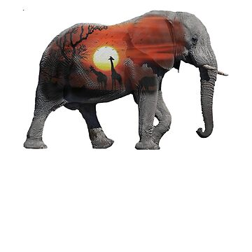 Elephant Art Forest Animal Magical Africa  T-Shirt by Ducky1000