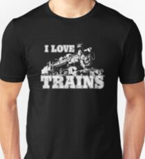 i love trains Slim Fit T-Shirt