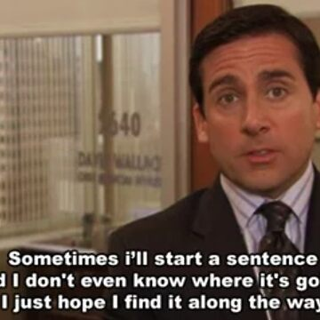 "Michael Scott ""Sentence Quote"" by itsmebecca"