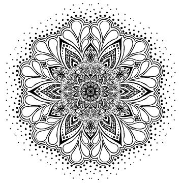Mandala black by RoxysArtShop