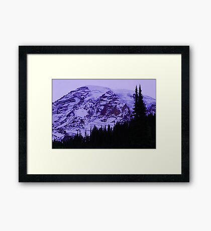 Lavender Twilight at Mt. Rainier Framed Print
