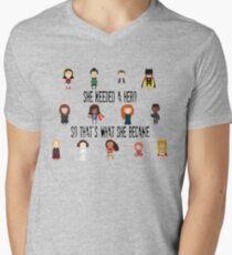 So that's what she became Men's V-Neck T-Shirt