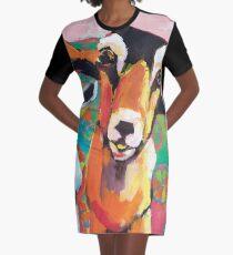 Goat Take-Off Graphic T-Shirt Dress