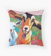 Goat Take-Off Throw Pillow