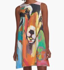 Goat Take-Off A-Line Dress