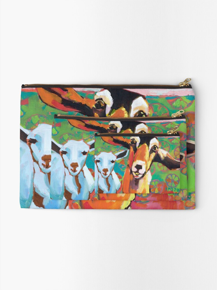 Alternate view of Goat Take-Off Zipper Pouch