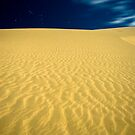 Te Paki sand dunes at night by Paul Mercer