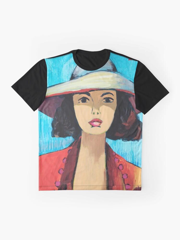 Alternate view of Sun Hat Girl Graphic T-Shirt