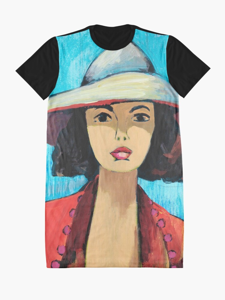 Alternate view of Sun Hat Girl Graphic T-Shirt Dress