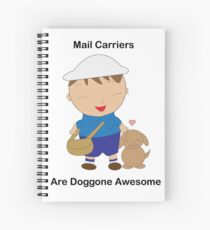Mail Carriers Doggone Awesome Cute Kawaii Spiral Notebook