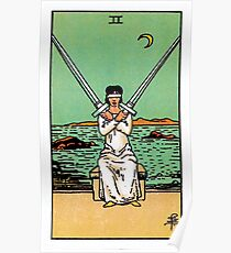 Two of Swords Tarot Poster