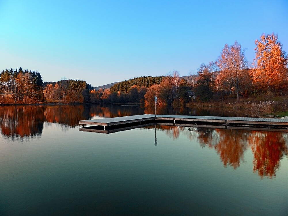 Romantic evening at the lake III | waterscape photography by Patrick Jobst