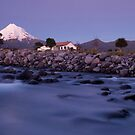 Mount Taranaki at night 2 by Paul Mercer