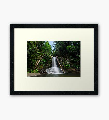 Waiau falls Coromandel Framed Print