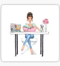 Chic Planner Girl Sticker