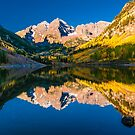 Maroon Bells Reflection by Gregory J Summers