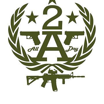 MAD THREDZ, 2ND AMENDMENT WREAH OD  by MADthredz