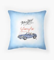 Nothing good starts in a getaway car | Taylor Swift | Lyric Illustration Throw Pillow