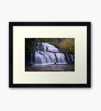 Purakunui falls,Southland Framed Print