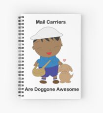Black Mail Carrier Doggone Awesome Cute Spiral Notebook