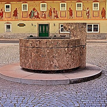 The village fountain of Kronstorf | architectural photography by patrickjobst