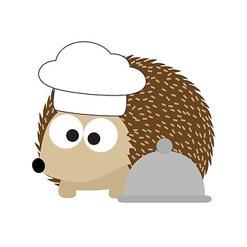 Hedgie the Cute Hedgehog Chef by Eggtooth
