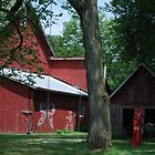 Swinging Butterfly Barn by Judy Seltenright