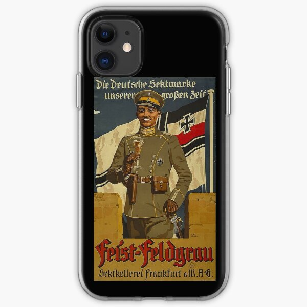 German Army officer holding a glass of Sekt iPhone Soft Case