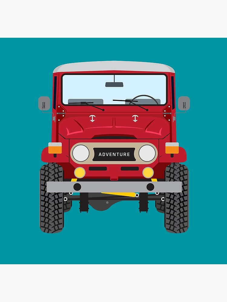 Toyota FJ40 (red) by oldskooldesign