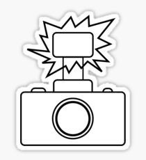 Camera SLR Flash_outline Sticker