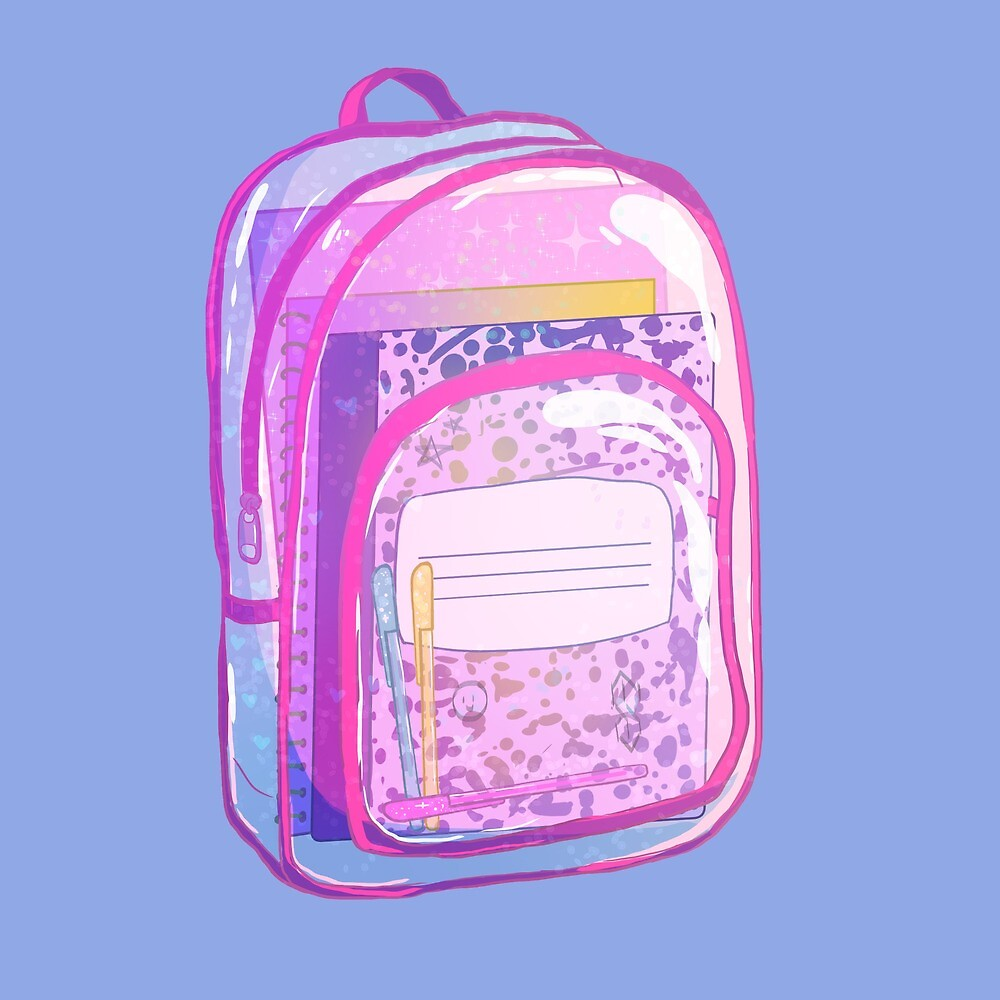 90s Nostalgia Series: Glitter Backpack by alyjones