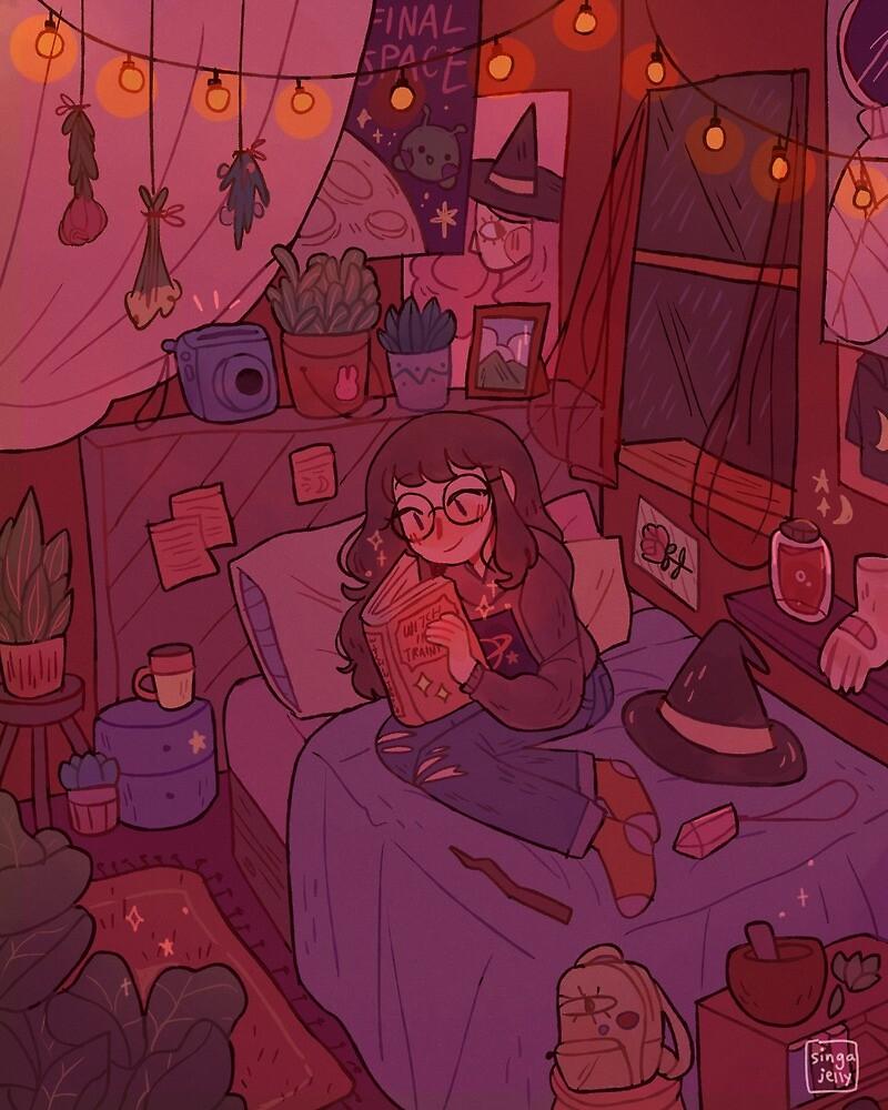 a cozy witch by Singajelly