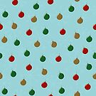 Christmas Tree Baubles by Pamela Maxwell